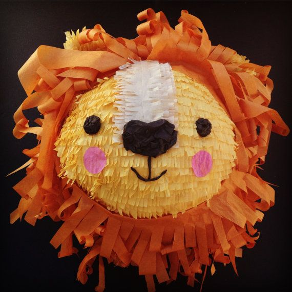 Lion Piñata by WhackPinatas on Etsy