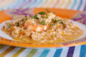 Cinco Quartos de Laranja: Arroz de camarão com peixe e cenoura