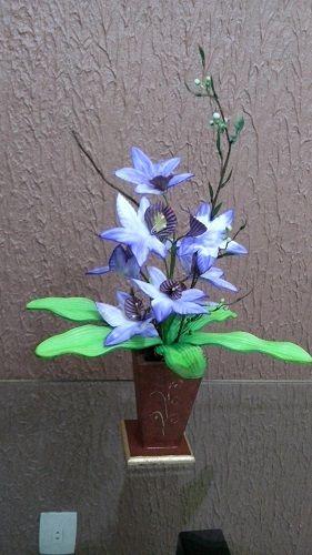 VASOS E QUADROS decorados com flores em EVA Presente exclusivos para o dia das mães!