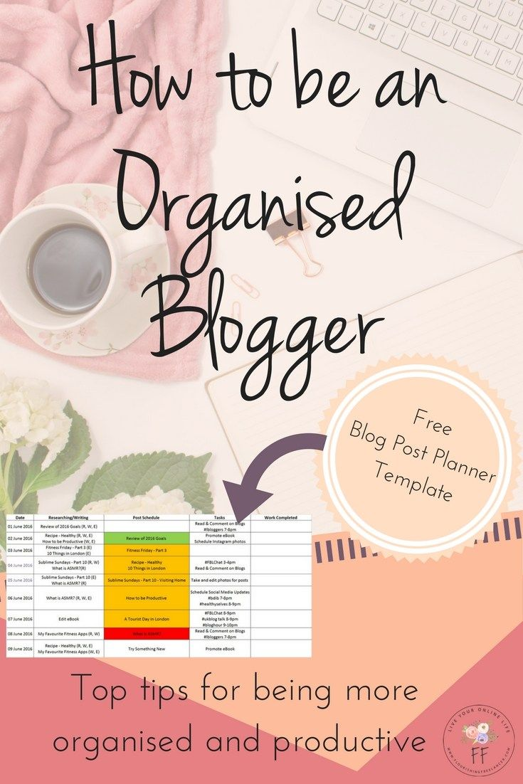 Being an organised blogger means you'll be more productive, more efficient and generally more awesome! Here's some tips on how I stay organised