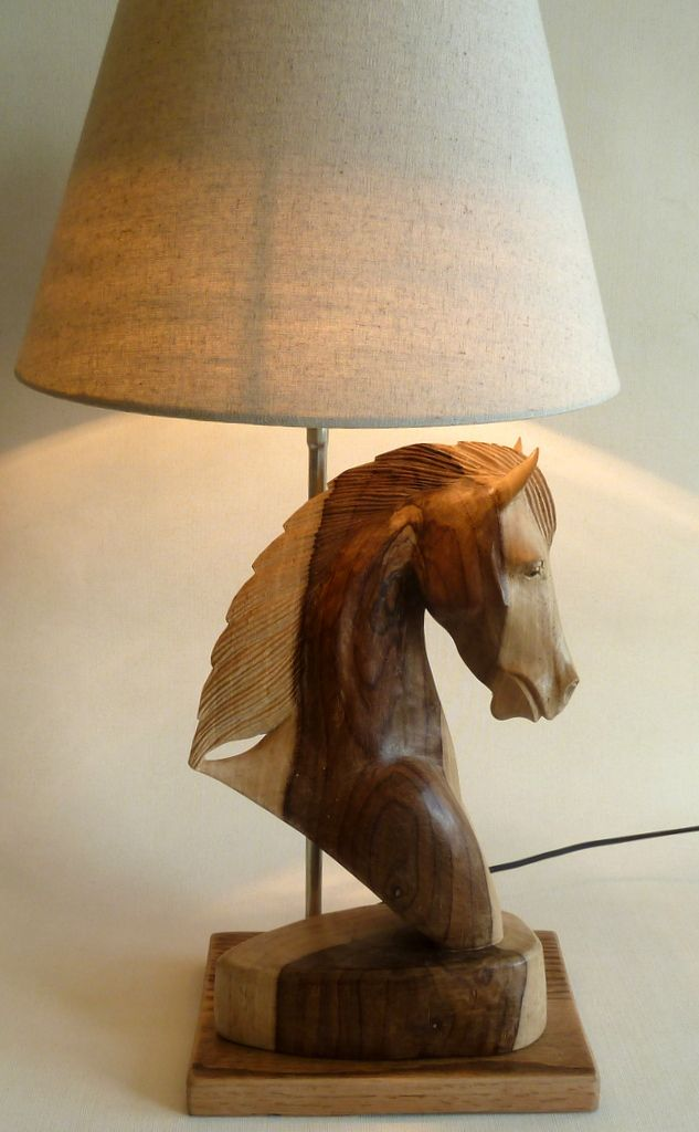 Table lamp hand carved natural wood horse head https://www.etsy.com/your/shops/DALESARTS/tools/listings/view:table,stats:true/223064903