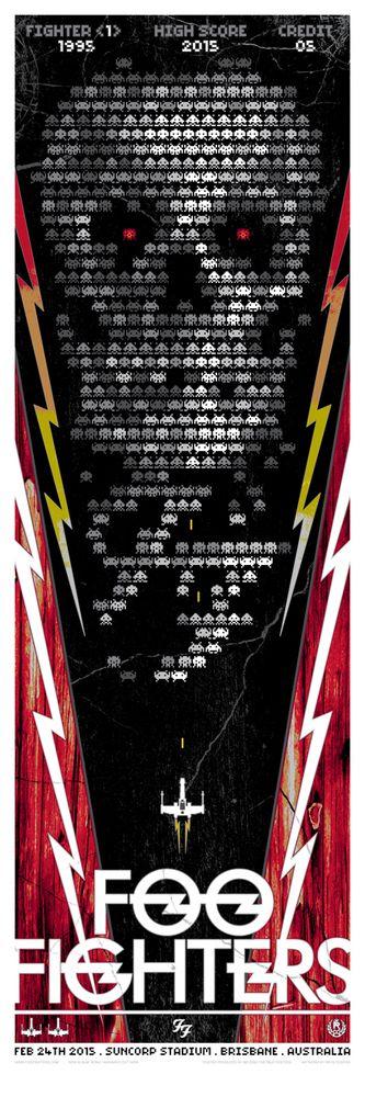 Studio Seppuku - The Art of Rhys Cooper — FOO FIGHTERS - 2015 TOUR - SPACE INVADERS - AUS