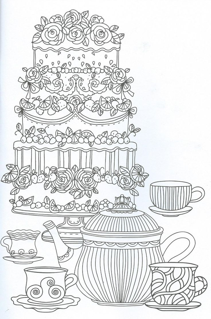whimsical cupcake coloring pages - photo#14