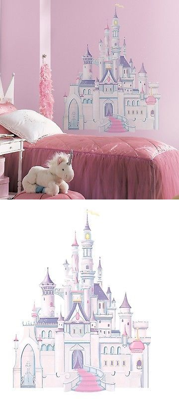 bedroom playroom and dorm d cor 115970 disney princess castle giant rh pinterest com