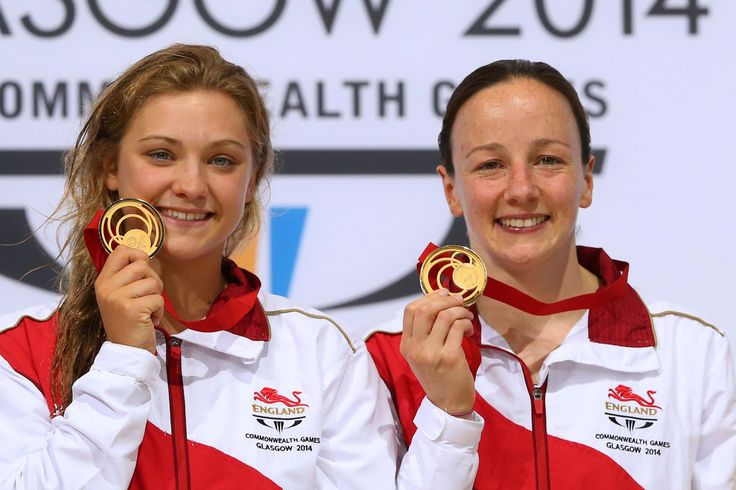Alicia Blagg and Rebecca Gallantree of England