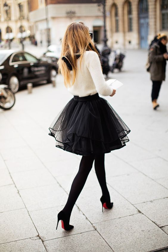 Full tulle skirt #black I can't wait to wear my black tulle skirt this winter with black stockings and a beautiful cream fitted twin set - Brisbane look out!: