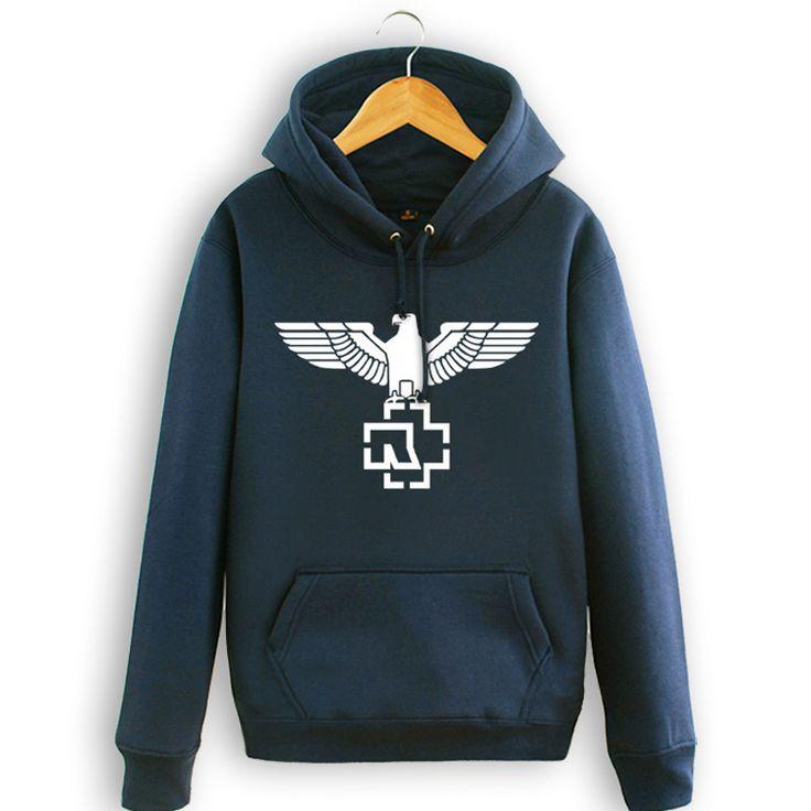 European Rock style hooded man's heavy metal hoodie sweatshirts hip hop fleece hooded