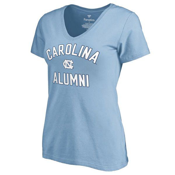 1d6184f4093f Women s Fanatics Branded Carolina Blue North Carolina Tar Heels Team Alumni  V-Neck T-