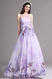eDressit Flattering Printed Strapless Long Summer Dress (X07151438)