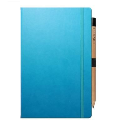 Image of Embossed Ivory Tucson Medium Notebook.Available In Seventeen Colours