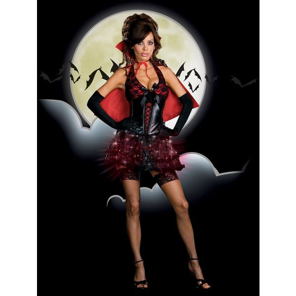 Moon LIGHT Bite Costume ❤ liked on Polyvore featuring costumes, costume, party costumes, sexy vampire costume, womens costumes, sexy women costumes and vampire costume