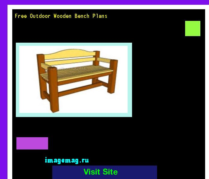 Free Outdoor Wooden Bench Plans 092937 - The Best Image Search