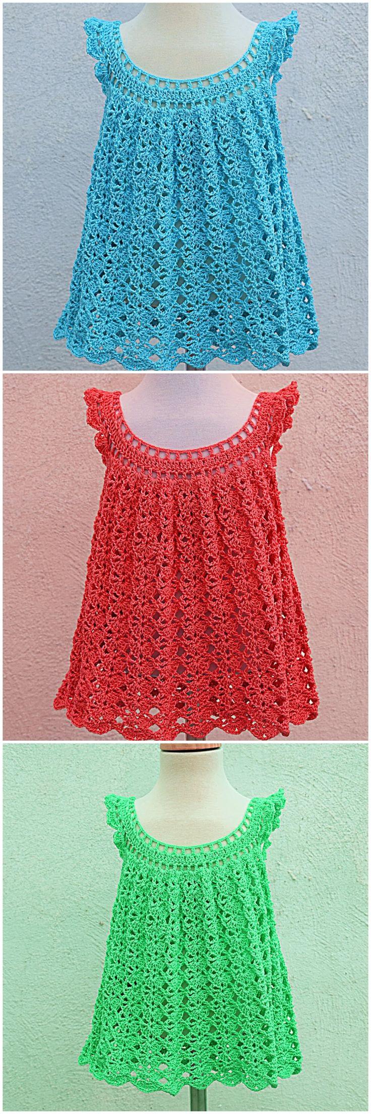 Crochet Fast And Easy Baby Girl Dress For Summer 2