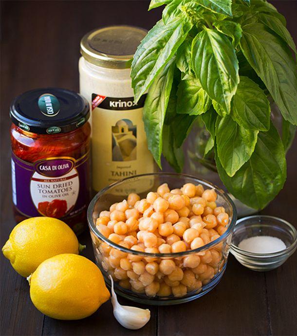 Homus de tomate seco e manjericão 2