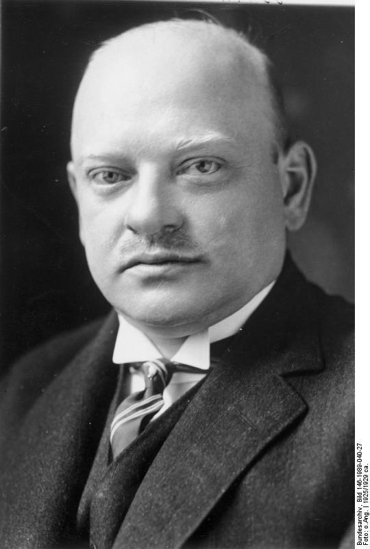 Gustav Stresemann, politician; Chasncellor, Foreign minister, winner of the Nobel Peace Prize