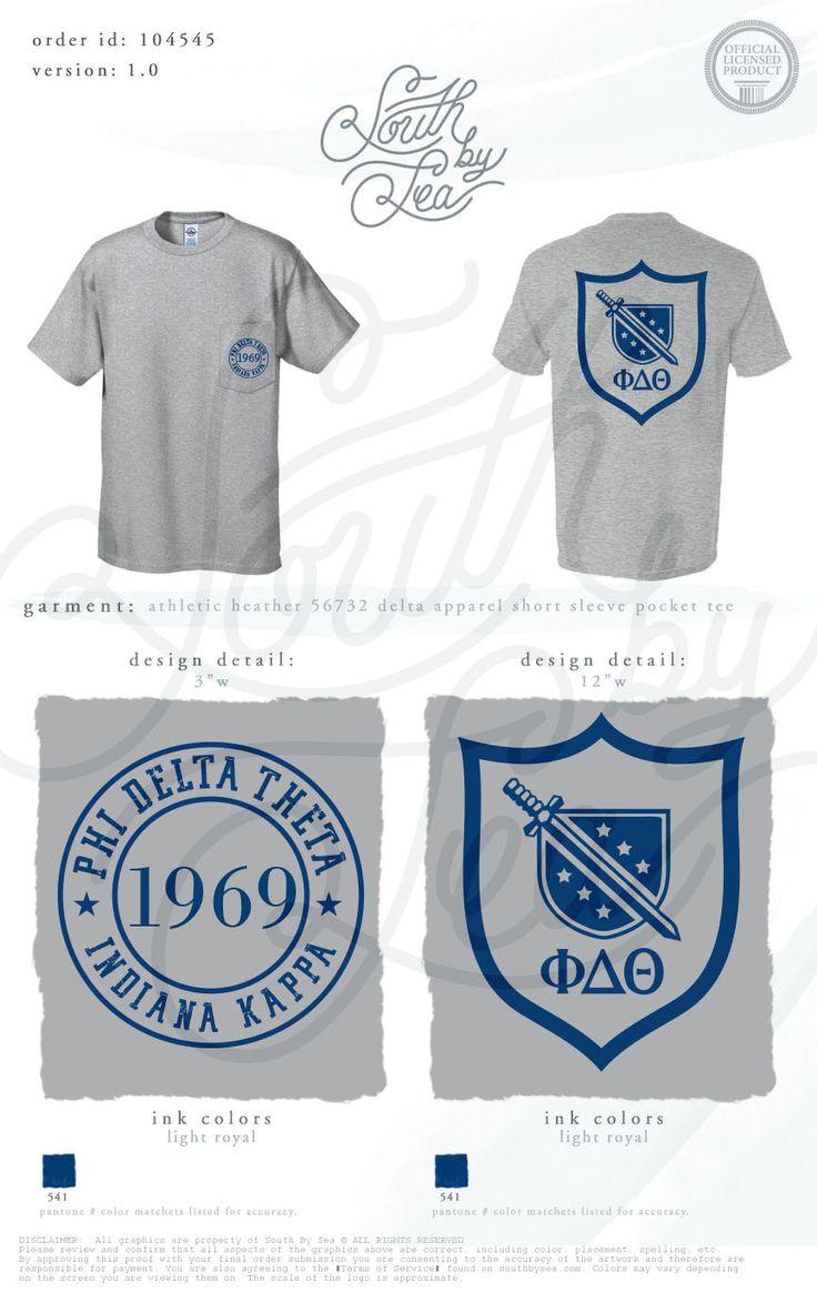 Phi Delta Theta | Phi Delts | Crest T-Shirt Design | Fraternity Basics | South…