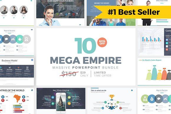 MEGA EMPIRE Powerpoint Bundle by Slidedizer on @creativemarket