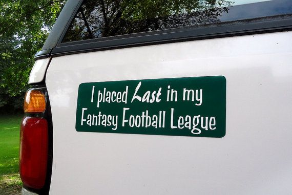 Fantasy Football Loser - something someone dumped me taught me about
