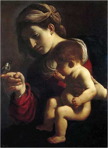 "Madonna of the Sparrow"" (1618-20), one of Guercino's early works."