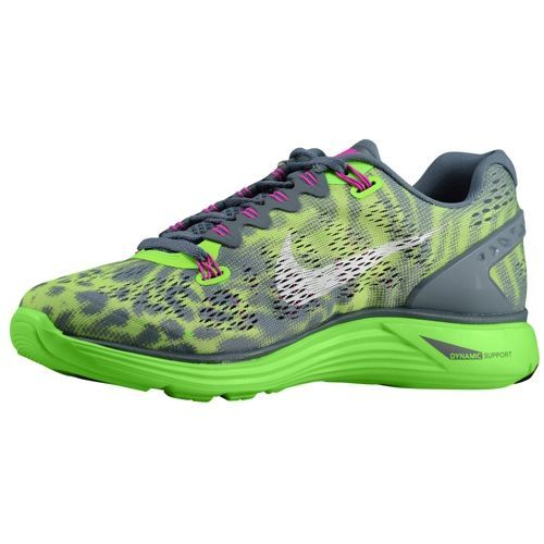 official photos 74ea7 1142a ... Nike LunarGlide+ 5 - Women s - Running - Shoes - Armory Slate Flash  Lime