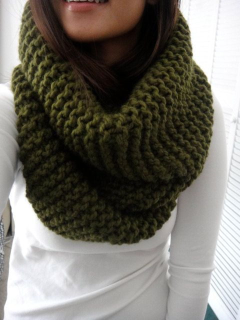 The Hope cowl scarf is hand knit in a chunky soft acrylic wool blend yarn. The simple ribbed texture is modern, timeless and easy to wear! I personally
