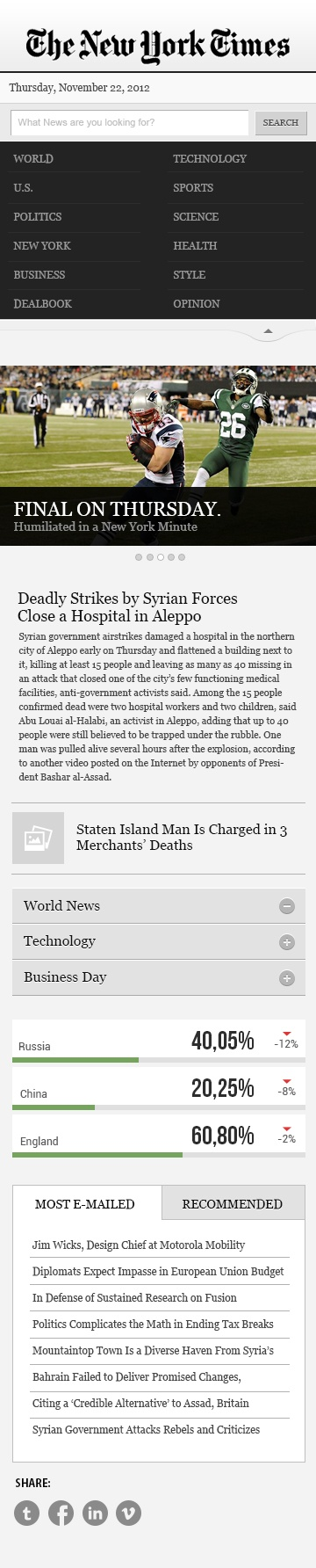 nytimes mobile website, welcome to all the feedback