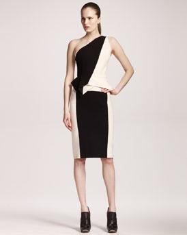 Roland Mouret Two Tone One-Shoulder Dress: Tones Oneshould, Roland Mouret, One Shoulder Dresses, Tones One Should, Two Tones, One Should Dresses, Colors Blocks, Oneshould Dresses, Peplum Skirts
