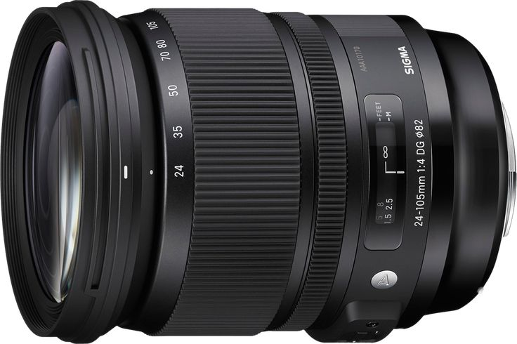 The 24-105mm F4 DG OS HSM is a relatively wide-range standard zoom for full frame SLRs, and part of Sigma's line of high quality 'Art' lenses. It offers a useful wideangle to moderate telephoto zoom range, and includes a Hypersonic Motor for fast, silent focus. Optical Stabilisation is also available to combat camera shake. The lens can also be used on APS-C / DX format cameras, on which it will offer a 36-160mm equivalent angle of view.