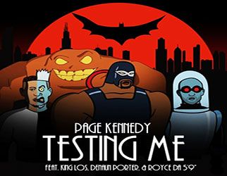 Page Kennedy connects with King Los, Denaun Porter andRoyce da 5'9&qout; on 'Testing Me'. Doing the 'D' proud, TV/film actor and rapper,Page Kennedy,rounds up fellow Motor City cohorts,Royce da 5'9&qout;andDenaun (Mr Porter), as well asKing Losand drops a feisty follow-up to last week's mumble…