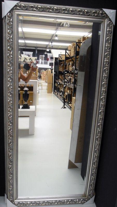 Zilveren Barok spiegel in 4 maten E109 70x90
