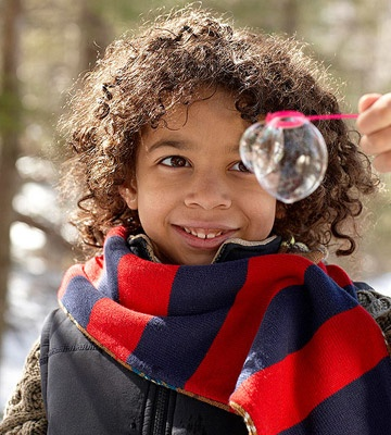 Bubbles will freeze when temps dip below 32 degrees. Watch them change from liquid to solid on the wand. http://www.parents.com/fun/activities/outdoor/snow-activities-kids/?socsrc=pmmpin112812wwfBubbles#page=5