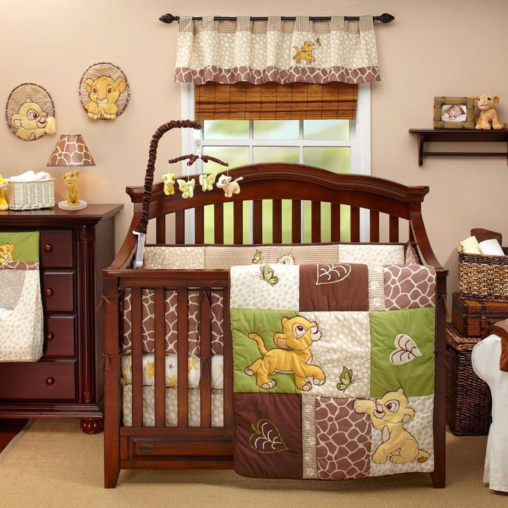 We Found A Ton Of Really Cute Lion King Baby Room Items From Crib Sets And  Bedding To Wall Art And Decorations Find Out How Cute A Lion King Baby  Nursery ...