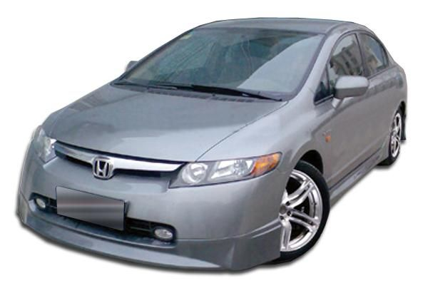 2006-2008 Honda Civic 4DR Duraflex Type M Front Lip Under Spoiler Air Dam - 1 Piece (Overstock)