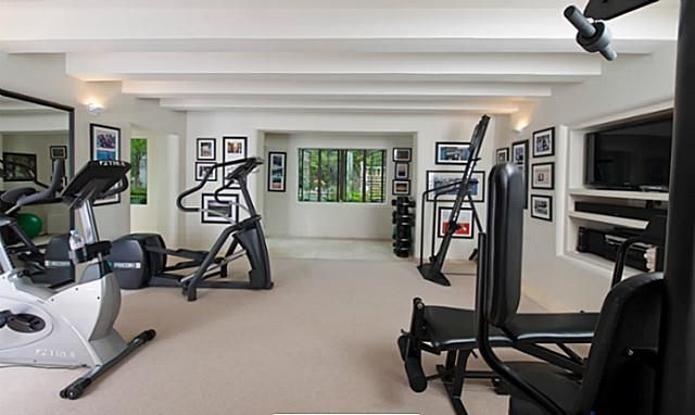 Best images about home game exercise room on