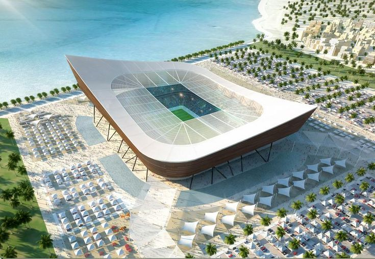 Al Shamal : 45.120 places. north of Qatar, Soccer / football