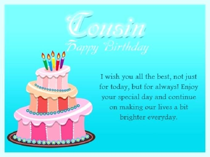 Best Of Birthday Wishes For Cousin Photographs Sample Or