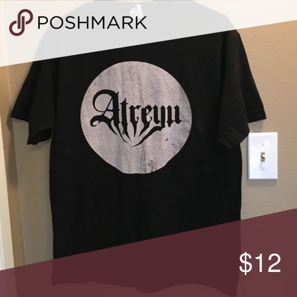 Atreyu band shirt size M in men's. Buy 1 get 1 free !   -on anything marked with  -limited time ⏱ -2nd item must be of equal or lesser value -comment on item you want after initial purchase -price to high ? I accept most offers!Only worn once. Atreyu band shirt. Size M in men's. Great condition. Tops Tees - Short Sleeve