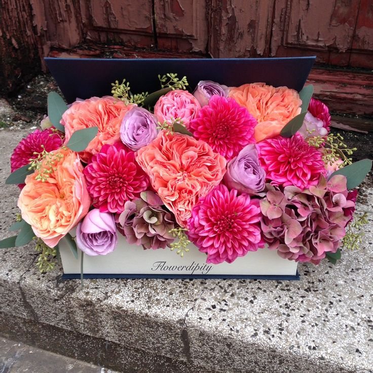 By the book #flowers #book #dahlias #roses #colorful #flowerdipity #corporate #delivery