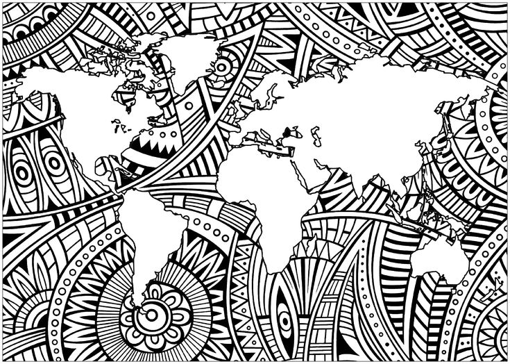 Zentangle planisphere 1 - Zentangle Coloring Pages for ...