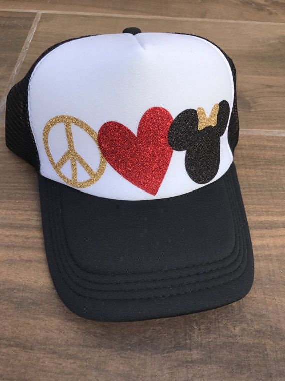 disney hat, disney trucker hat, disneyland hat, mickey hat, mickey ears, MINNIE MOUSE EARS