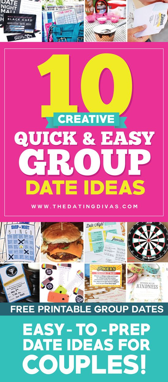 Pinning for later! Such quick and easy group date ideas! I can't wait to invite over our friends! www.TheDatingDivas.com