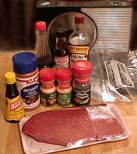 Ingredients for Homemade Jerky Marinade Sauce