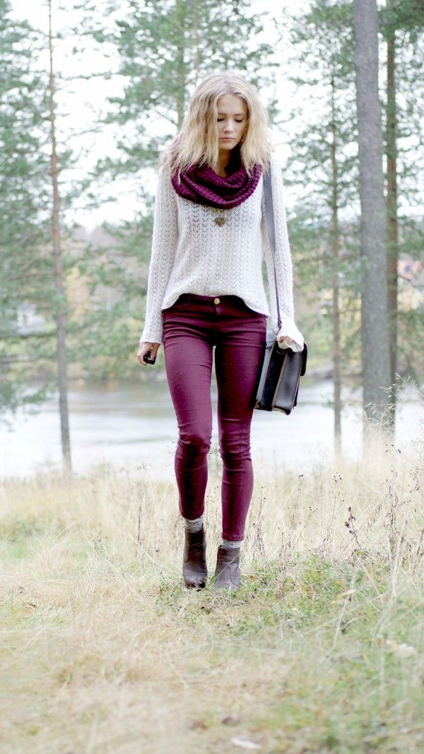 would love some maroon pants this winter