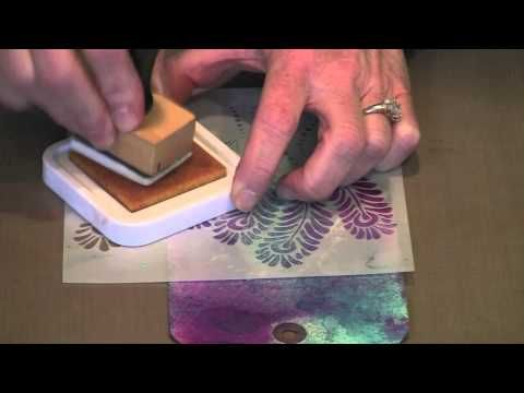 interesting way to use stencils and stamps together    http://www.joggles.com/morecraftersworkshopstenciltechniques-video.htm