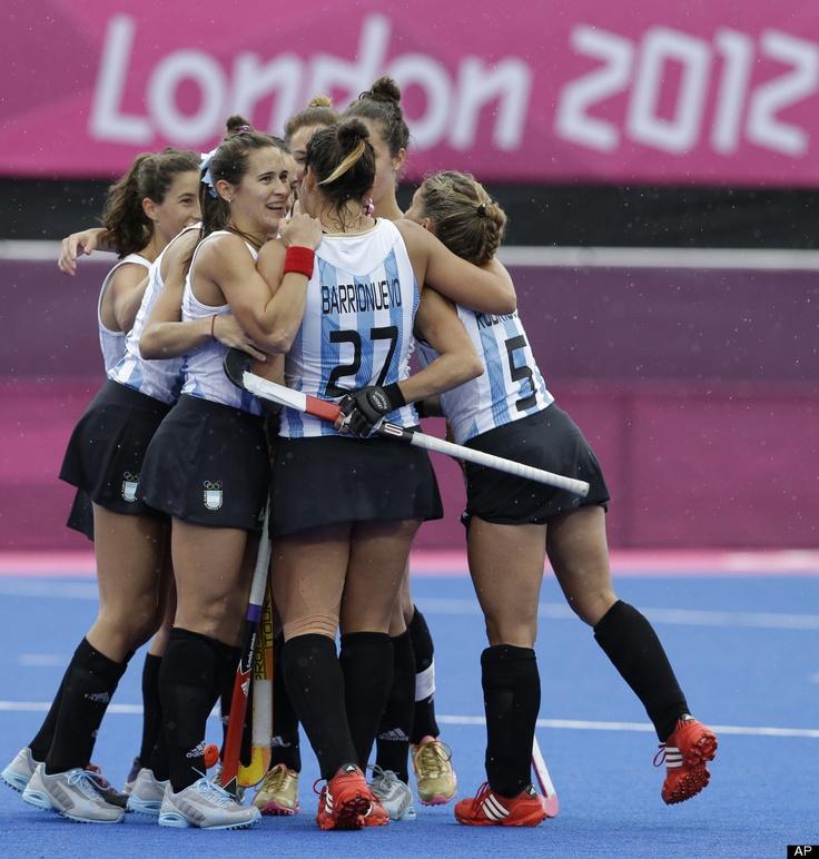 Un foto del equipo de mujeres de Argentina en los juegos Olímpicos.