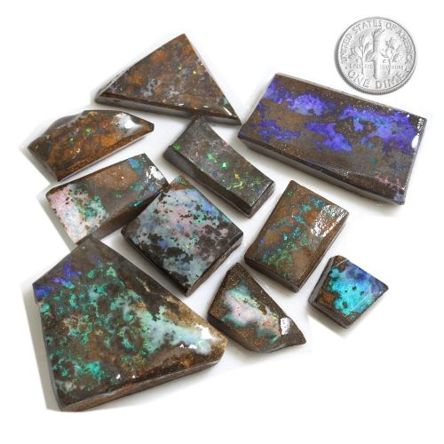 rough opal boulder rubs consisting of ten pieces individually priced upon request