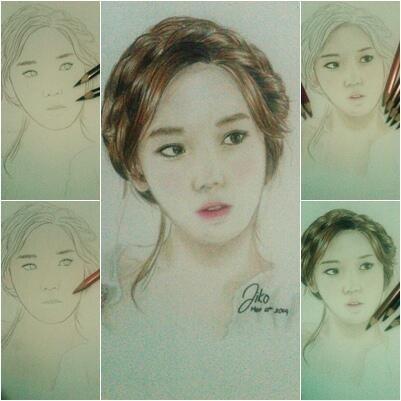 The way I sketched TaeYeon