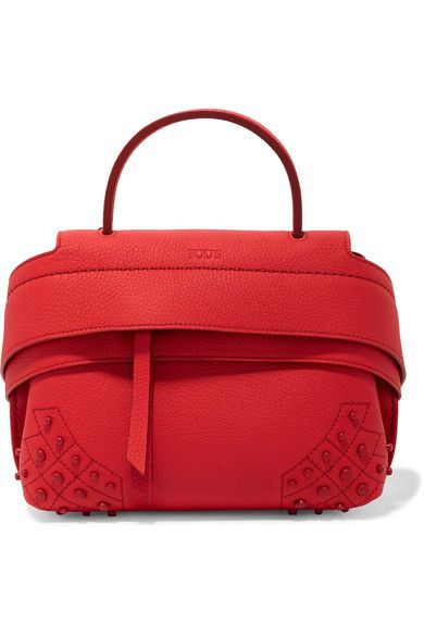 Tod's - Wave Small Embellished Textured-leather Tote
