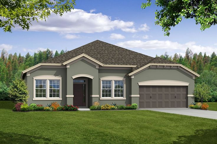 Exterior paint color schemes montelena new home in starling at fishhawk ranch centex homes - Exterior paint ideas for ranch style homes set ...