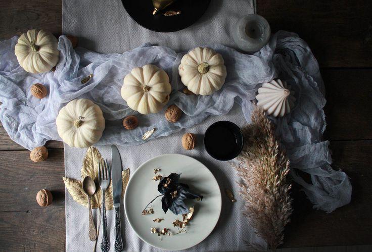 Table details: pumpkins, nuts